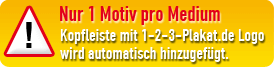 Nur 1 Motiv pro Medium; Kopfleiste mit Westfa-Werbung.de Logo wird automatisch hinzugefügt.